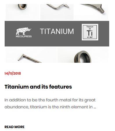 Titanium - hot forging