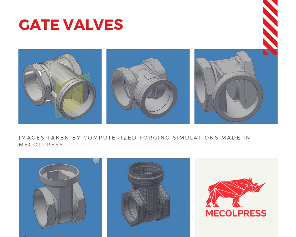 Gate valves hot forging
