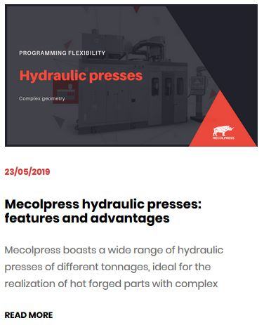 Possible configurations of a hydraulic press