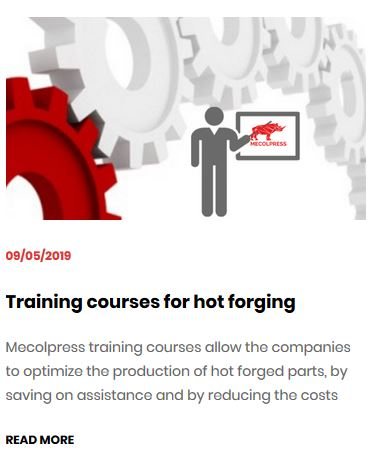Training courses hot forging