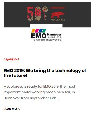 Mecolpress at EMO2019