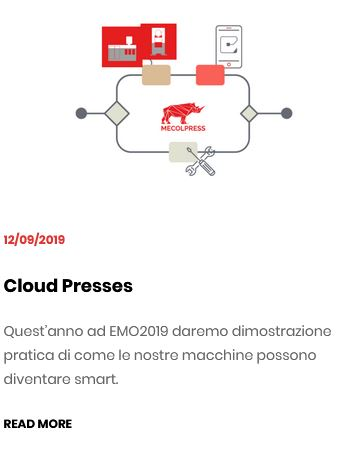 EMO2019: cloud presses