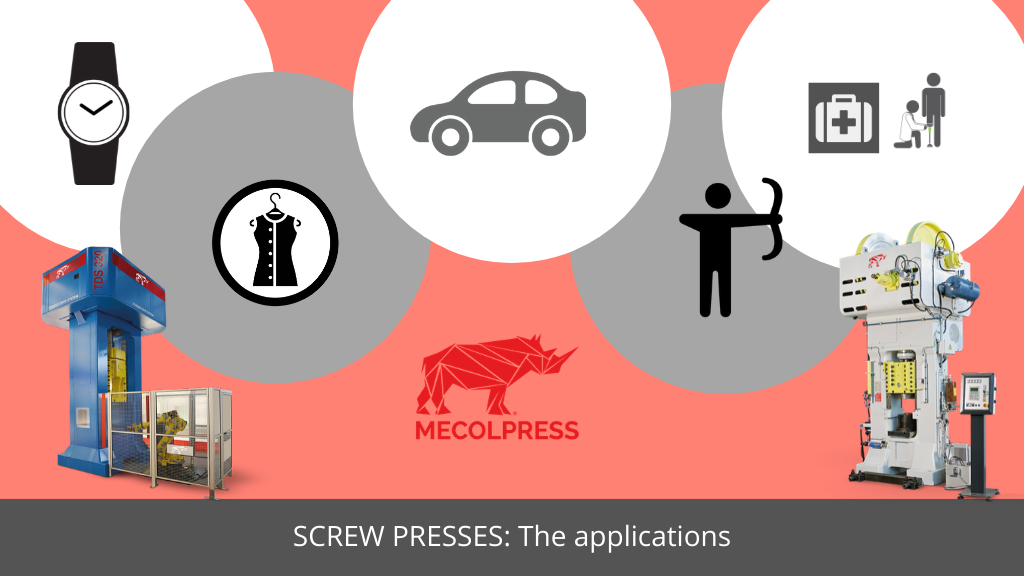 The applications of screw presses
