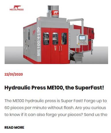 ME100 hydraulic press the superfast!