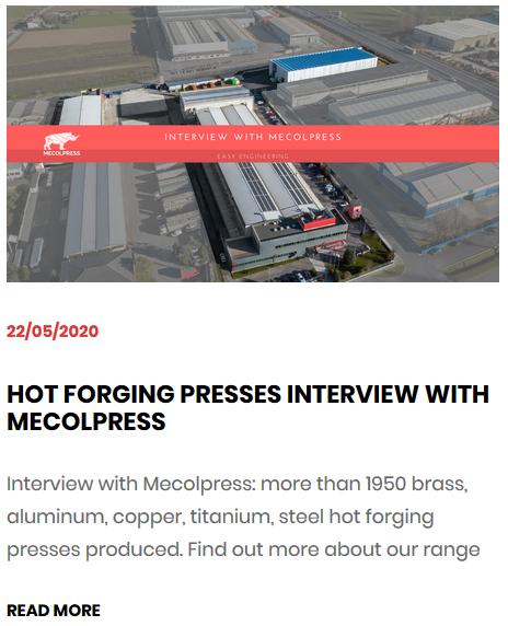 hot forging presses - interview mecolpress