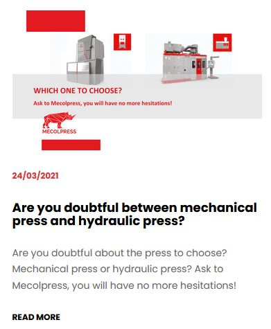 Are you doubtful between mechanical press and hydraulic press?